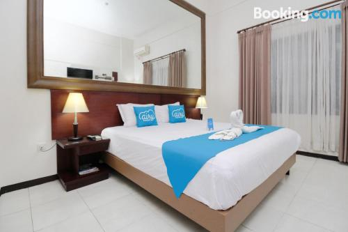 Stay cool: air-con apartment in Malang. Ideal for two people!.