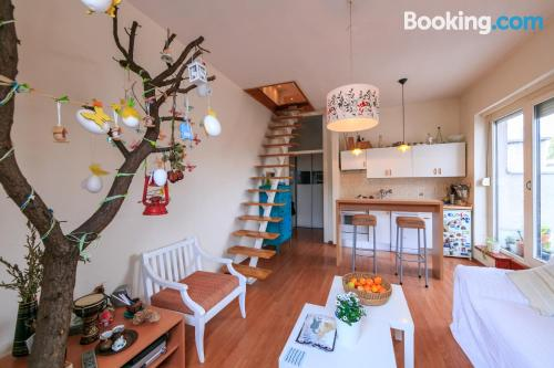 Place for couples in Zagreb with terrace.