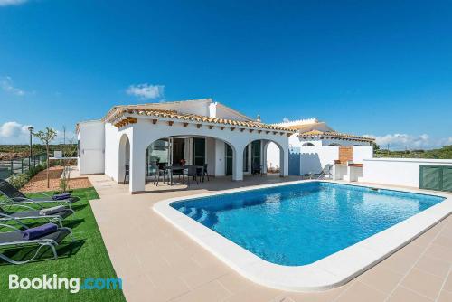 Apartamento con piscina en Es Mercadal