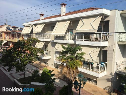 Apartment in Kallithea Halkidikis. Terrace!.