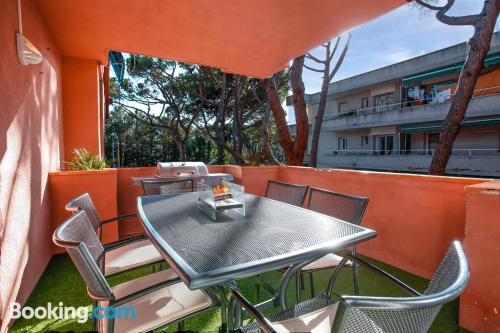 1 bedroom apartment in Castelldefels with heat and internet