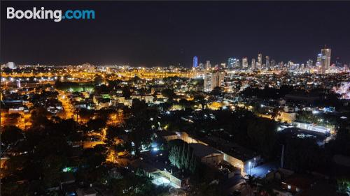 In Tel Aviv ideal for 6 or more.