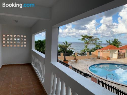 Ideal one bedroom apartment with terrace and pool.
