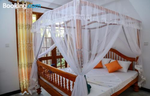 One bedroom apartment apartment in Hikkaduwa with terrace and internet.