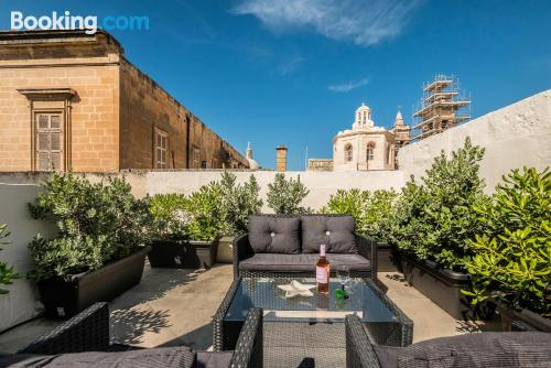 Home with terrace for two