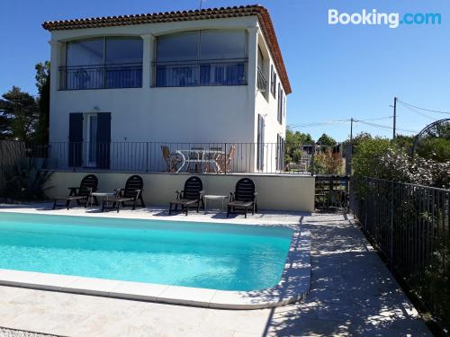 Apartment in Régusse with terrace and pool.