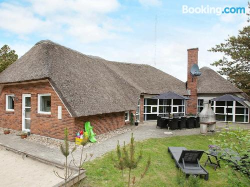 Swimming pool and internet home in Blåvand. Convenient for six or more