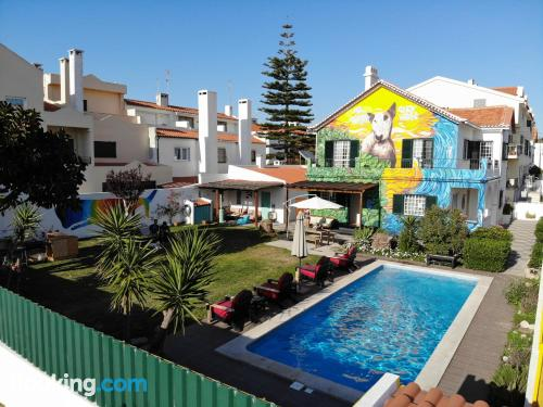 Apartment for two people in Costa da Caparica with terrace and wifi