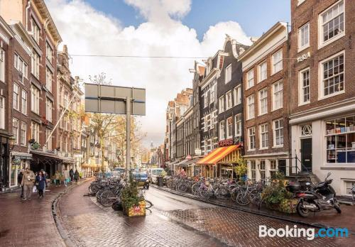 Baby friendly place in incredible location. Amsterdam calling!