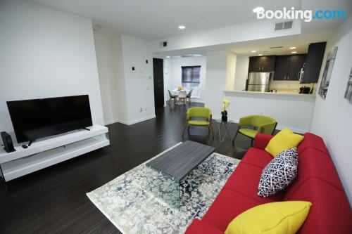 Apartment for 6 or more with internet.