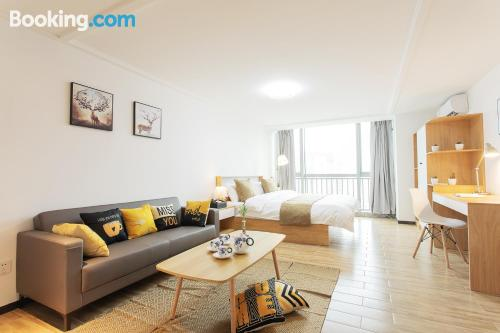 Apartment in Guangzhou with internet and terrace.