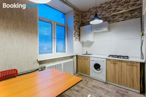Three bedrooms place in Moscow ideal for groups.