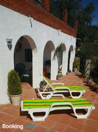 Center in Comares with terrace and pool