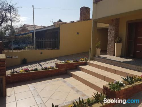 Pool and internet home in Villa Carlos Paz with heating