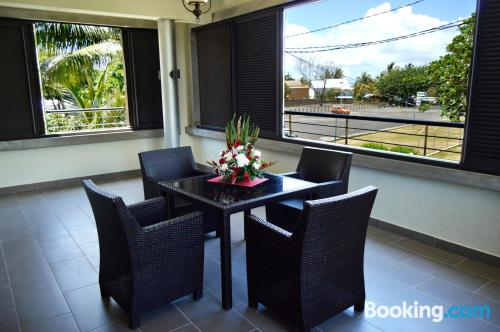 Place with terrace. Convenient for families