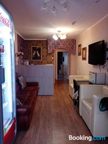 1 bedroom apartment home in Kopeysk with terrace and wifi.