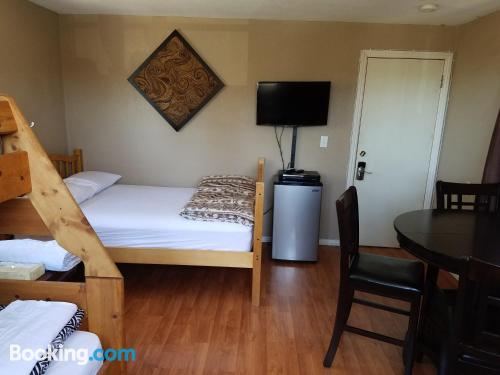 Place for 2 in Big Bear Lake with terrace and wifi.