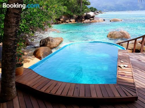 Home with swimming pool. Enjoy your terrace