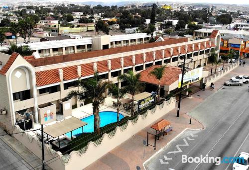 Stay cool: air-con home in Rosarito for couples.