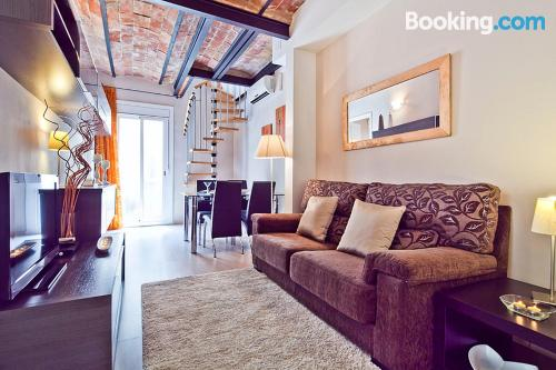 Apartment in Barcelona with heating and internet