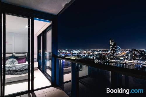Melbourne from your window! with 2 bedrooms.