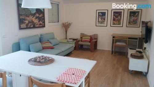 Place in Kefar Sava with heating and internet