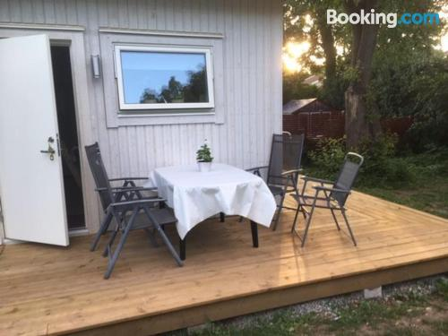Central location and terrace in Köpingsvik with two rooms.