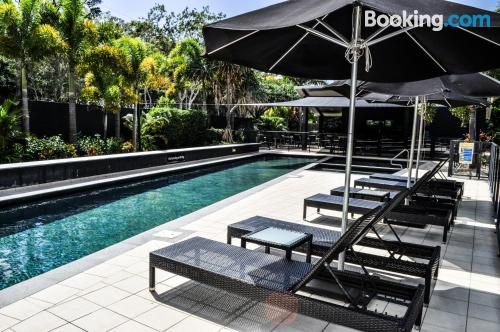 Stay cool: air home in Hervey Bay for two