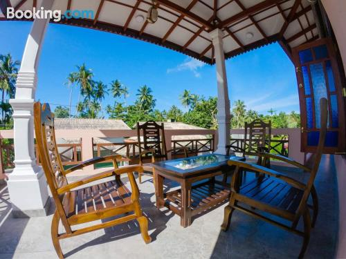 Home in Dodanduwa with terrace and internet.