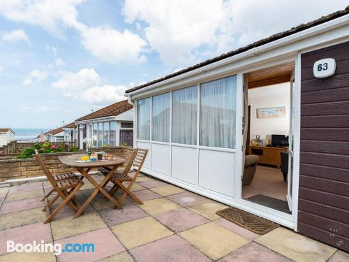 Two rooms home in Westward Ho with wifi.