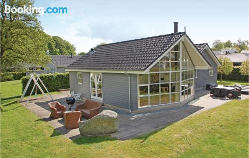 Dogs allowed home in Aabenraa. Ideal for groups