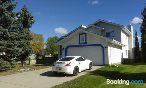 Home in Edmonton. Ideal for 6 or more