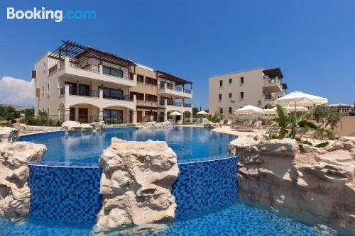 Baby friendly home with swimming pool and terrace.