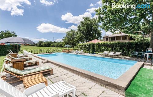 50m2 apartment in Acquapendente. Pool!