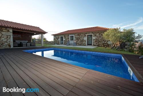 In Caminha with terrace and swimming pool.