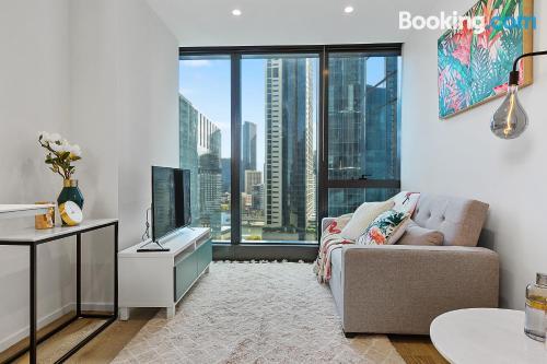 Acogedor apartamento en Melbourne. ¡Aire acondicionado!