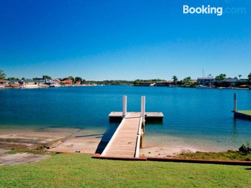 Stay in Yamba. Good choice for six or more
