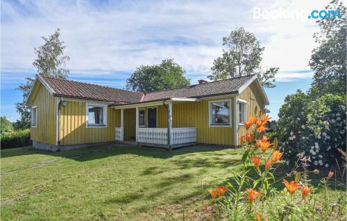 Two bedroom home in Mellerud. Convenient for families