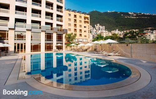 Place in Jounieh with heating and internet