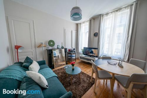 One bedroom apartment apartment in Lille with wifi.