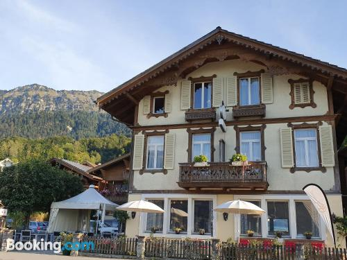 Petite home in Leissigen with wifi and terrace.