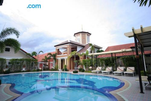 Pool and wifi place in Chon Buri for two.