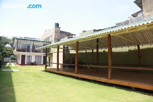 Place with terrace for families