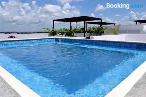 Apartment with pool in Playa del Carmen.