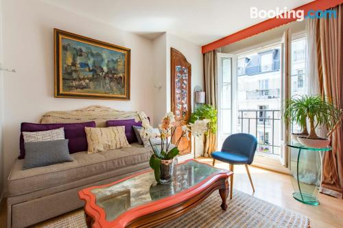 Huge apartment in Paris with internet.