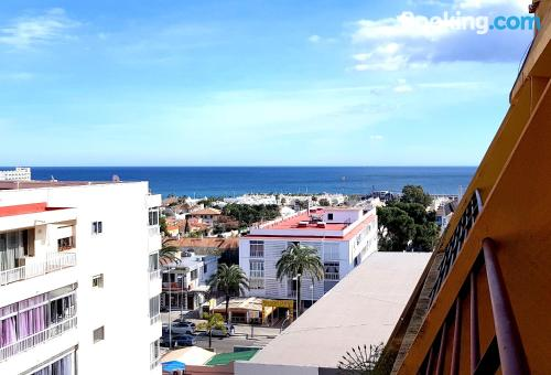 Perfect location and air-con in Benalmadena perfect for six or more.