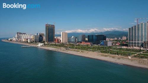 Apartamento de 35m2 en Batumi con terraza y internet