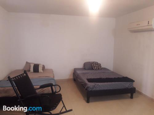 One bedroom apartment place in Monterrey with air-con.