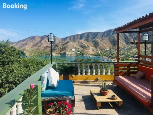 Cot available apartment in Taganga with terrace