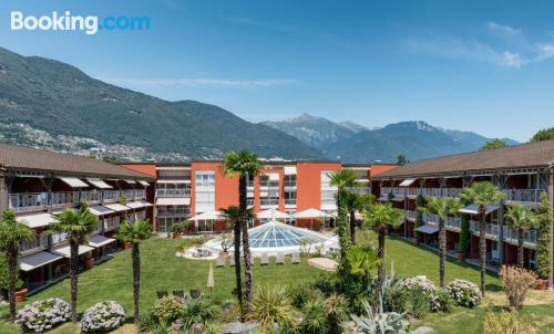 2 bedrooms place in Ascona. Child friendly.